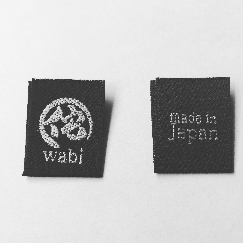 本格的なオリジナル刺繍タグ(織ネーム)制作例②
