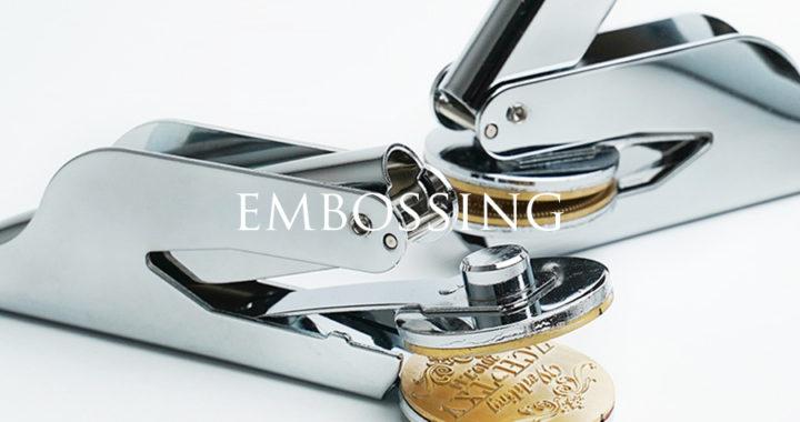 オリジナルブランドロゴをおしゃれな立体感で演出するエンボッサー(型押しスタンプ)